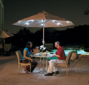 Зонт с подсветкой для ресторана