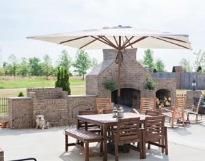 Переносной зонт для ресторана