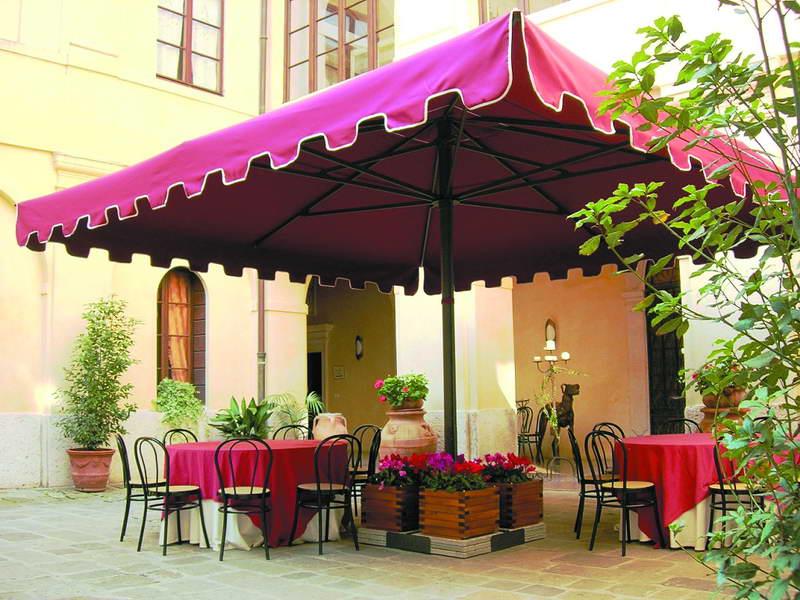 Выносные зонты, зонт для ресторана