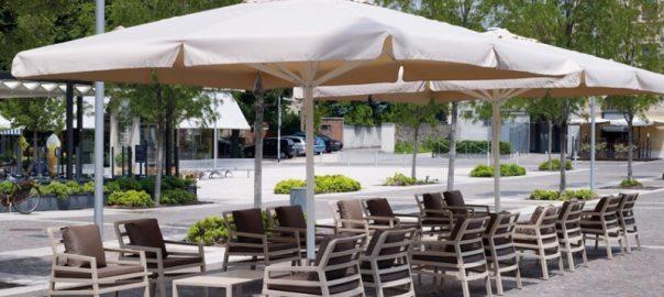 Зонт для кафе Киев белый