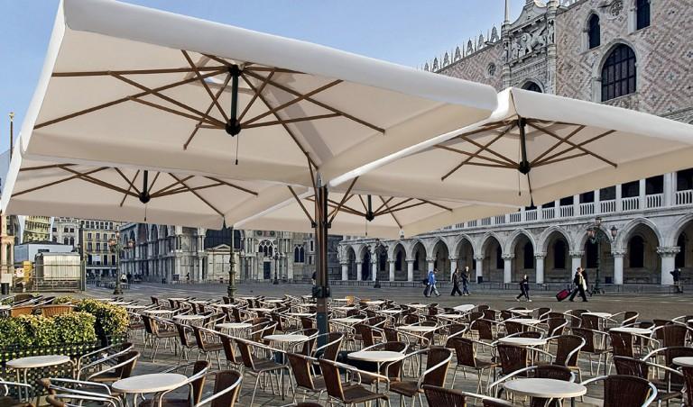 Зонт консольный четырех купольный «Квадро Рим» 8х8м.